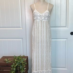 Lacey & Crocheted White Long Summer Dress